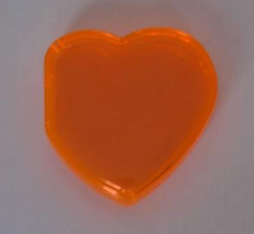 Beanie Baby Tag Cover (Orange Heart)